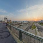 Berlin, Warschauer Brücke Sunset
